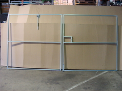 Double gate all frames supplied with hinges and latches